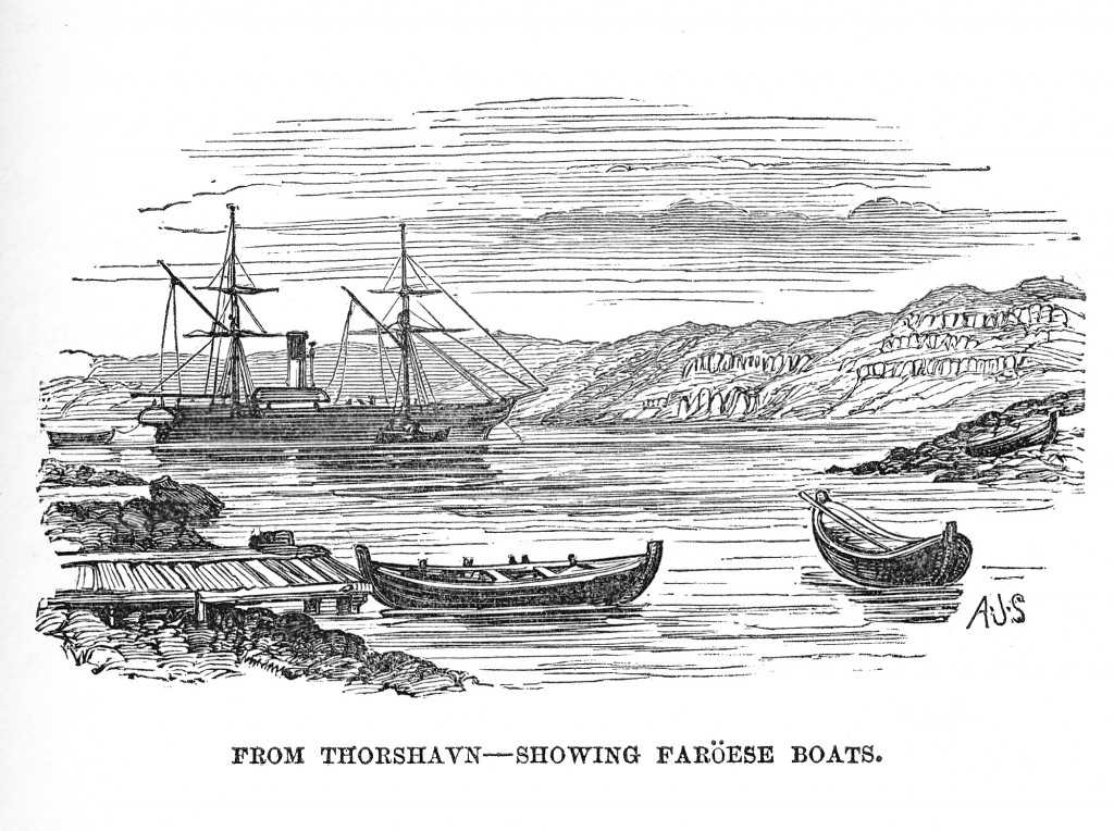 Faroese boats at Thorshavn