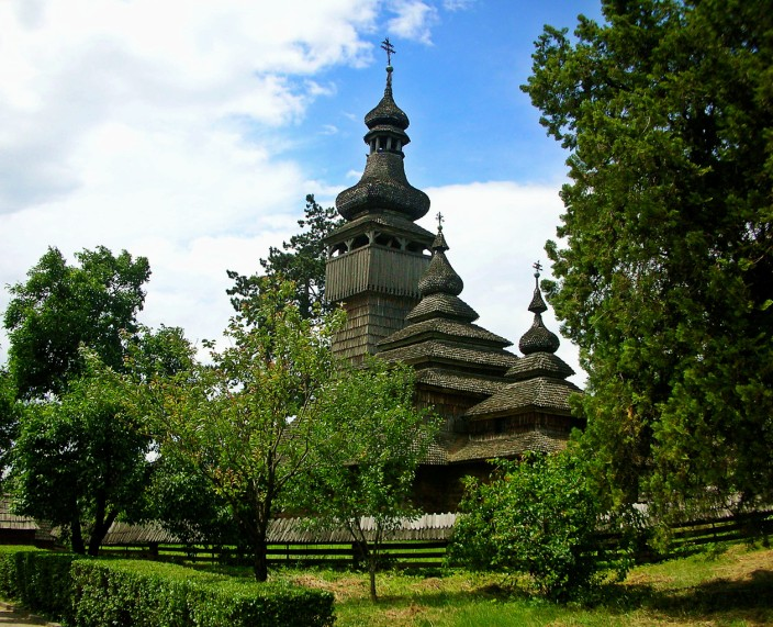 wooden church in uzhgorod